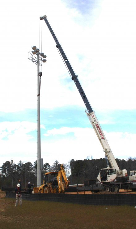 Lights Installed at New Sports Complex
