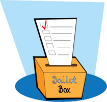 Ballot Box With Ballot Clipart