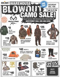 haleyville_camo_warehouse_sale_flyer_2016_page_1