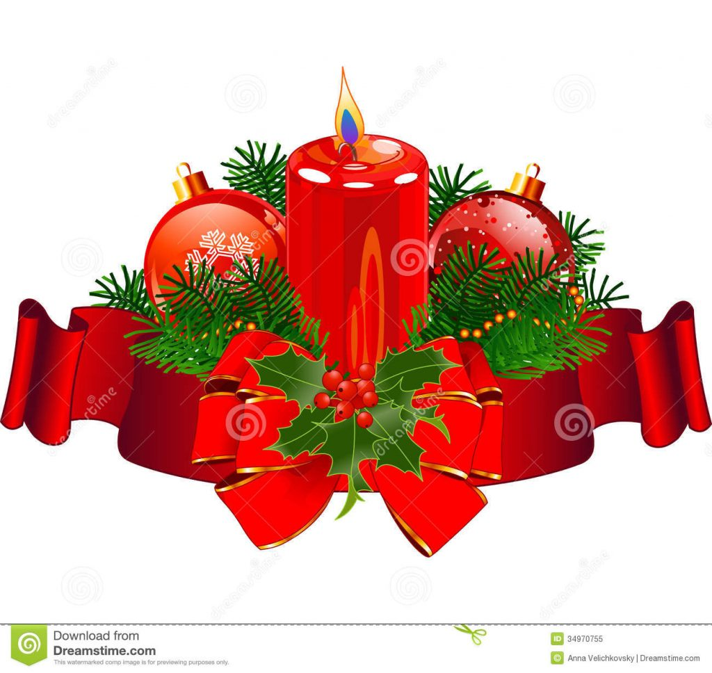 christmas-candle-design-pillar-surrounded-red-stripe-34970755